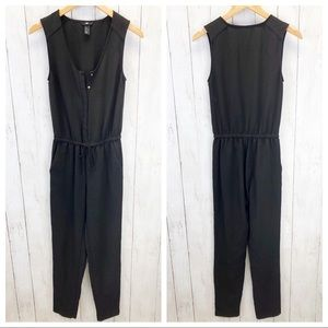H&M Black Sleeveless Jumpsuit Sz4 ::L5